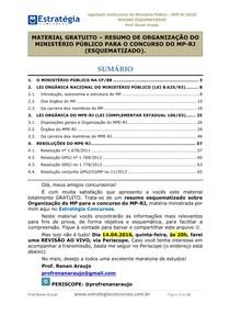 RESUMO GRATUITO Organização do MPE RJ2