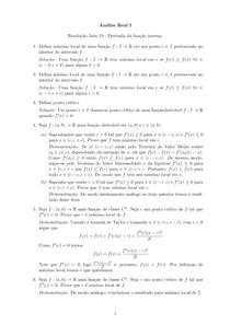 Resolução lista 19 - Máximos e mínimos de funções deriváveis