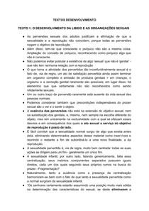 Resumo - O DESENVOLVIMENTO DA LIBIDO E AS ORGANIZAÇÕES SEXUAIS