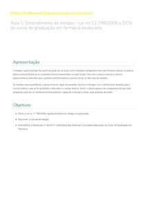 Prática Profissional Supervisionada em Farmácia I