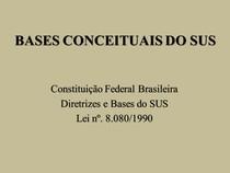 BASES CONCEITUAIS DO SUS LEI 8080   Copia