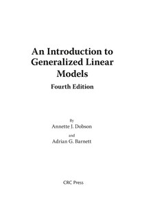 An Introduction to Generalized Linear Models - Matemática