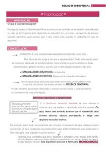 Propriocepção - Resumo de Cinesioterapia | por: @eduardareisnafisio