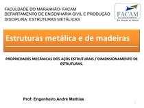PROPRIEDADES MECÂNICAS DOS AÇOS ESTRUTURAIS E DIMENSIONAMENTO DE ESTRUTURAS