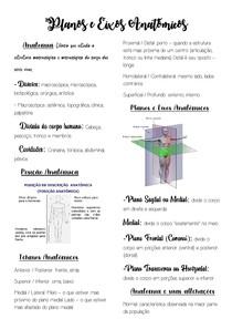Planos e Eixos Anatômicos