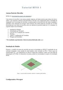 Tutorial HFSS Traduzido - Antenas