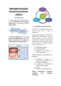 Abordagem de lesões dentárias traumáticas - parte 1