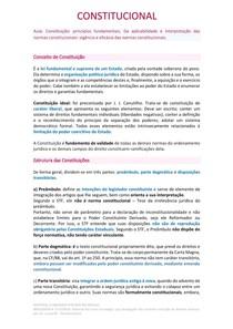 Resumo - Constituição: princípios fundamentais e Aplicabilidade e interpretação das normas constitucionais