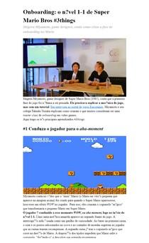 Onboarding: o nível 1-1 de Super Mario Bros #3things