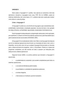 LTP - UNIDADE II Resumo