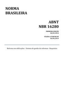 Norma ABNT NBR 16280