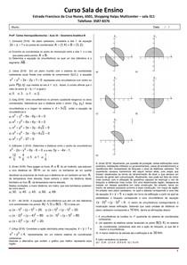 SE 2019 - Aula 34 - Geometria Analítica III
