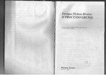 PICHON RIVIERE, E. O Processo Grupal - Livro Completo