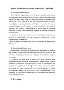 Resumo - Introdução crítica ao direito penal brasileiro