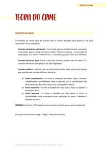 TEORIA DO CRIME (Elementos do crime - Fato típico)