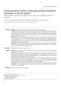 COMPORTAMENTO VIOLENTO E DISFUNÇÃO CEREBRAL