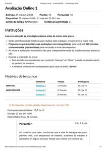 Avaliação Online 1_ G ABR ADGER 1 - Administração Geral - Prova 2