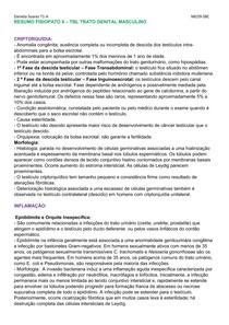 RESUMO TBL FISIOPATO II SISTEMA GENITAL MASCULINO