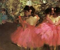 Edgar Degas - dancarinas de rosa