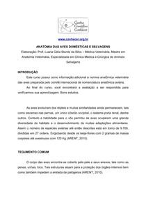 Apostila ANATOMIA DE AVES