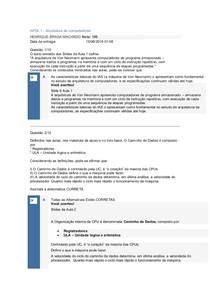 APOL01 1 a APOL05 Arquitetura de computadores Nota 100