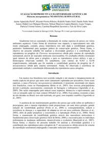 AVALIAÇÃO REPRODUTIVA E DA DIVERSIDADE GENÉTICA DE Piaractus mesopotamicus NO SISTEMA SEMINATURAL