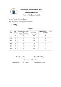 Fluidos - Relatório - Física II