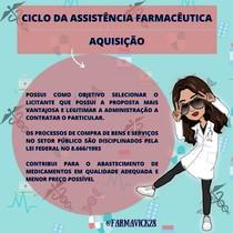 CICLO DA ASSISTÊNCIA FARMACÊUTICA- AQUISIÇÃO