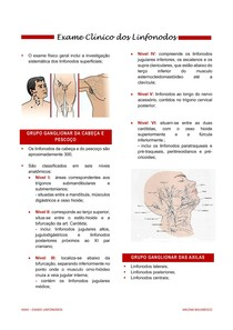 Linfonodos - semiologia