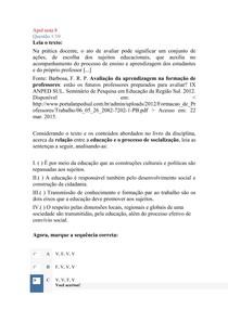 Apol nota 8 discursiva nota 86 e objetiva nota 6 provas ja corrigidas de gestão educacional