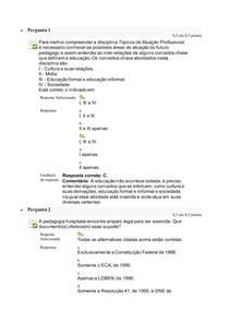 Questionario 1 Tópicos de Atuação Profissional