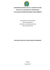 Métodos físicos de concentração Mineral