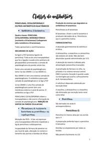 Classes de antibióticos- Farmacologia, odontologia.