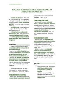 AVALIAÇÃO MULTIDIMENSIONAL DA PESSOA IDOSA NA ATENÇÃO BÁSICA (AMPI-AB)