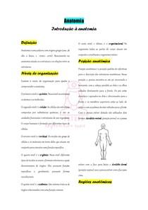 Introdução à anatomia