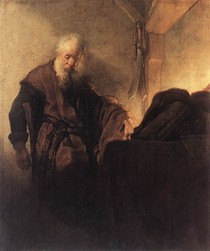 Rembrandt -St Paul at his Writing Desk
