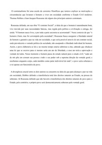 Rousseau - Contratualismo