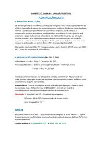 PROCESSO DO TRABALHO 1 - AULA 5