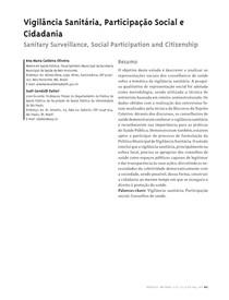 Vigilância sanitária  participação social e cidadania