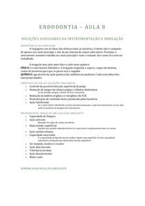 ENDODONTIA - 8 - SOLUÇÕES