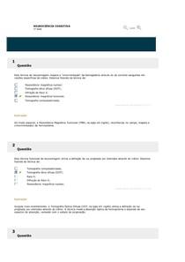 TESTES DE CONHECIMENTO NEUROCIÊNCIA COGNITIVA