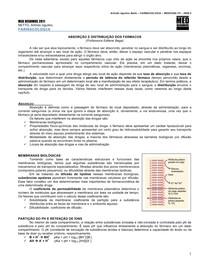 FARMACOLOGIA 02 - Absorção e distribuição dos fármacos - MED RESUMOS 2011