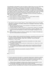 Metodologia e Conteúdo básicos de Ciências Naturais e saúde Prova I