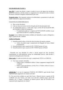Material de Apoio 12 - Obrigações Subjetivamente Compostas [Solidariedade Passiva]