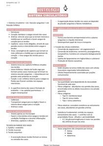 Histologia do sistema circulatório - junqueira cap 11