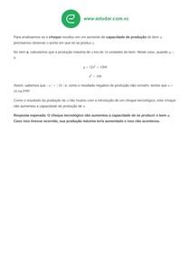 Exercício 7c: Choque Tecnológico (Prova) - Resposta