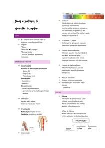 Sinas e sintomas do aparelho locomotor
