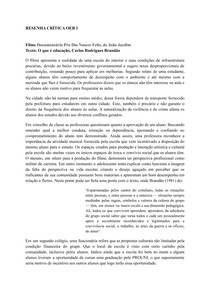 RESENHA CRÍTICA Documentário Pro Dia Nascer Feliz, de João Jardim