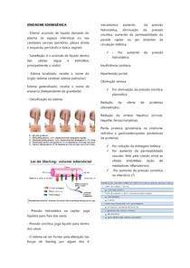 Síndrome edemigênica (edema)