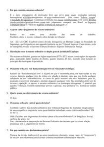Atividade - Processo Civil II - Recurso ordinário